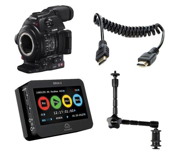 Camcorders: Canon EOS C100 Mark II Camera / Ninja 2 Kit at Hunts
