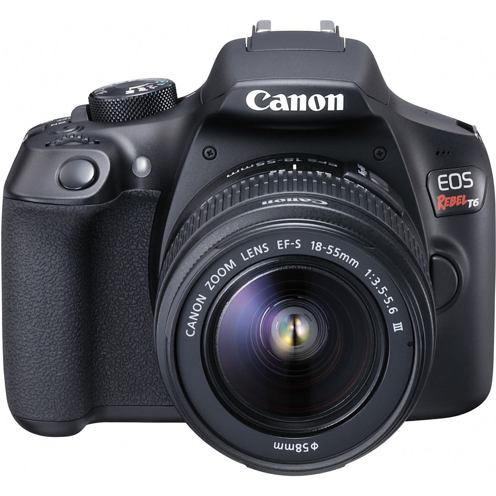 Digital Cameras: Canon EOS Rebel T6 EF-S 18-55mm IS II Kit
