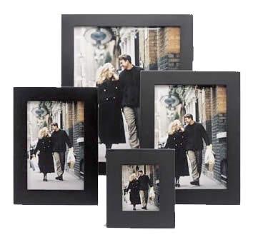 Frames Malden Frames Linear 5x7 Hinged Double Vertical Black Wood
