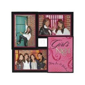 Frames Malden 3 Opening 4x6 Girls Night Black Pink Wood