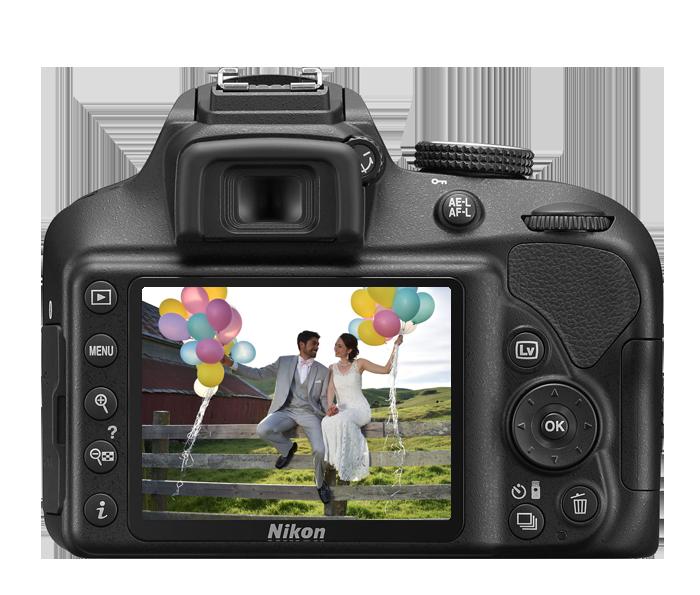 Nikon D3400 DSLR with 18-55mm and 70-300mm Lenses (Black) at Hunts ...