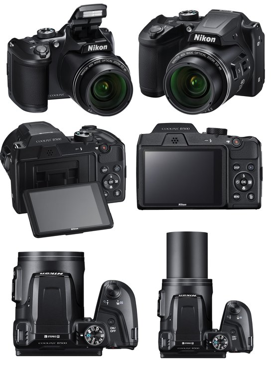 Accessories: Nikon Coolpix B500 Camera with 40x Optical Zoom