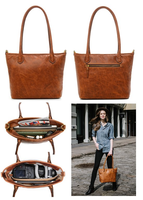 512eeb395af7 ONA Bags/ONA5009LBR.jpg · #ONA5009LBR · ONA Bags The Capri Leather Camera  Tote (Antique Cognac)