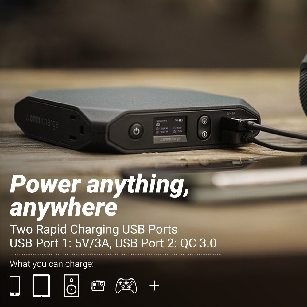 Accessories Omnicharge Omni 20 Pro Power Pack With 100w Ac Outlet Xps Battery Charger Wiring Diagram At Hunts Photo Video