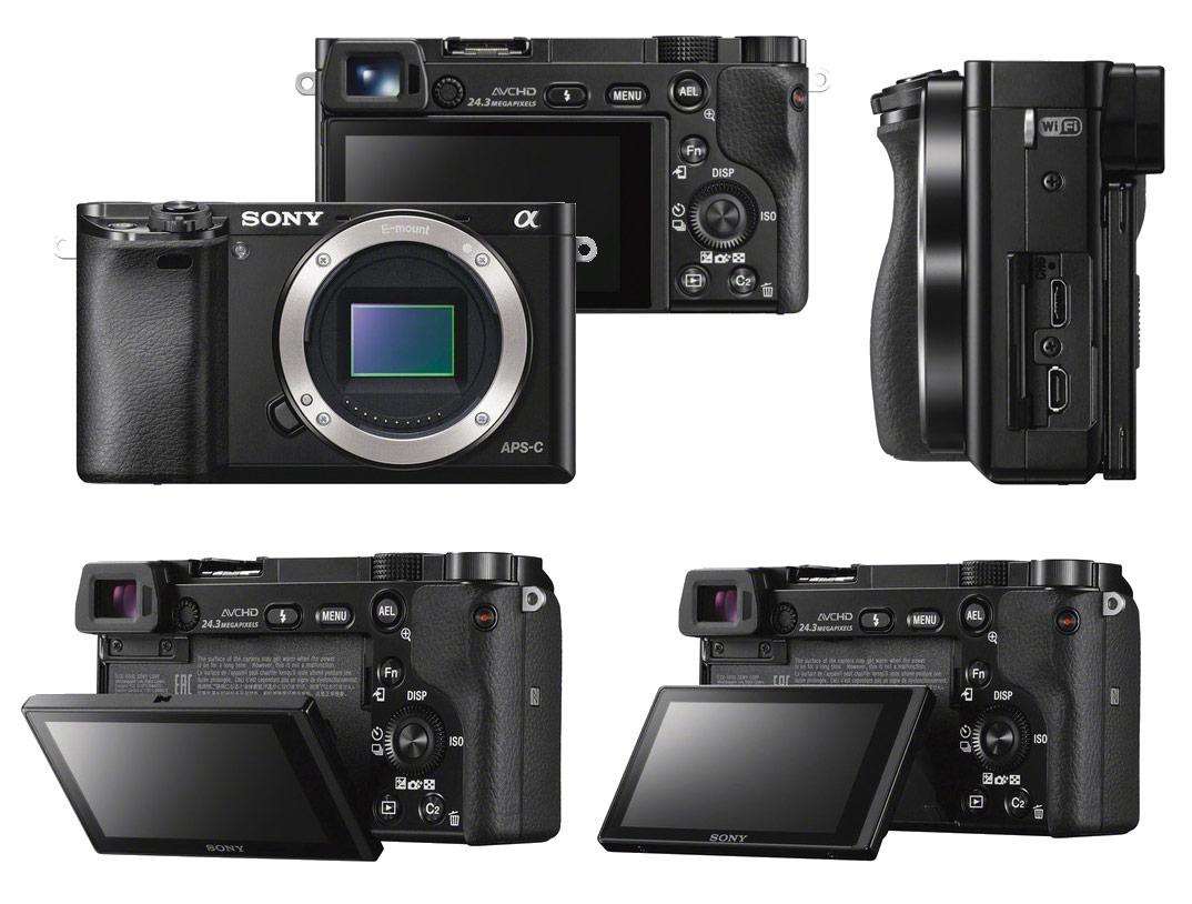 Digital Cameras Sony Alpha A6000 Mirrorless Dslr Camera Body At
