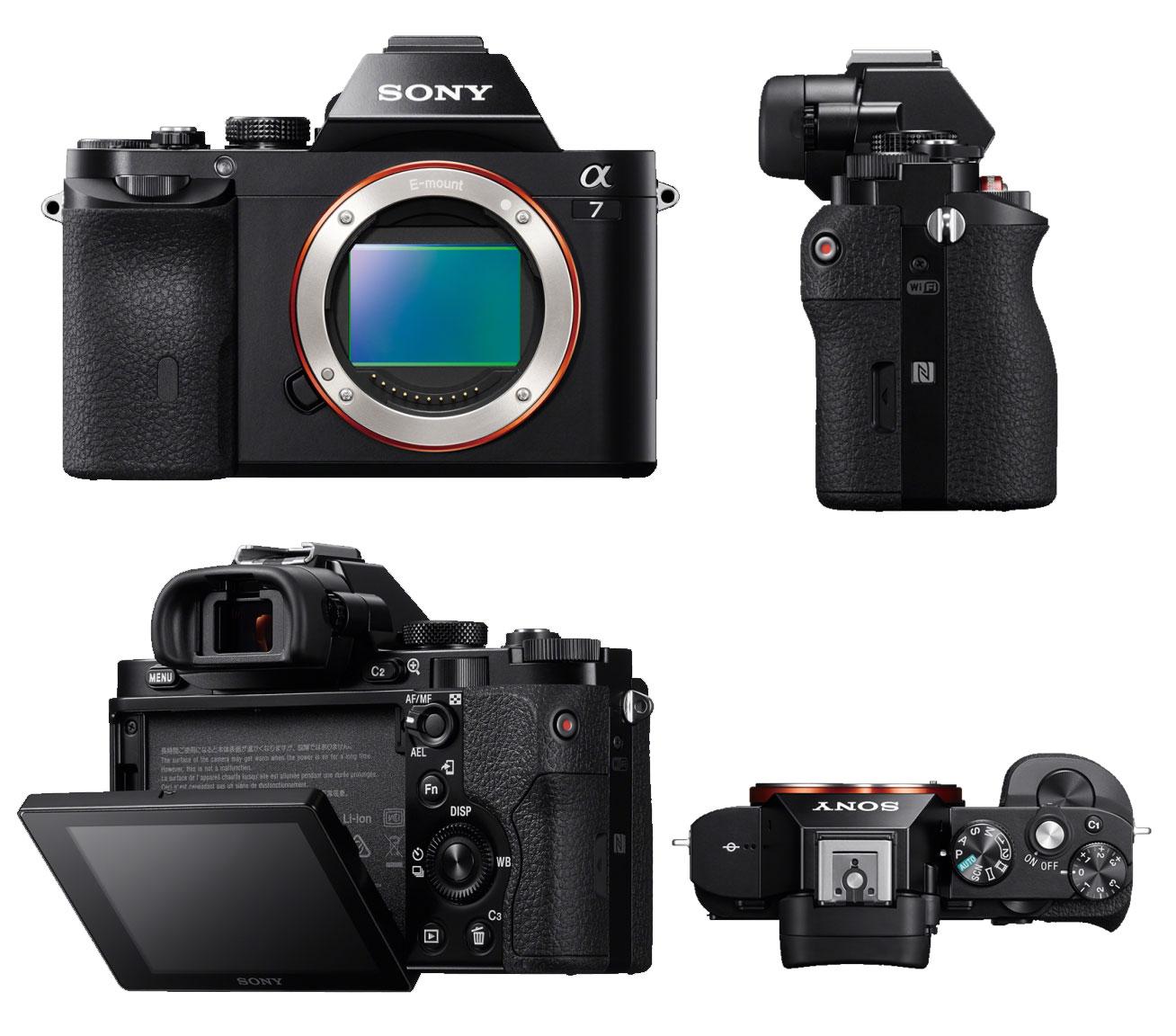 Digital Cameras: Sony A7 Full-Frame Interchangeable Lens Camera ...